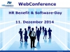 "WebConference-Tag zum Thema ""HR Software Day"" am 11. Dezember"